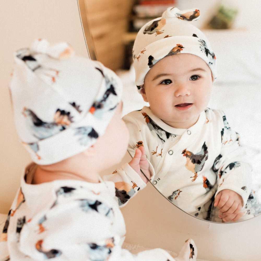 Milkbarn Knotted Hat - Chicken - Organic