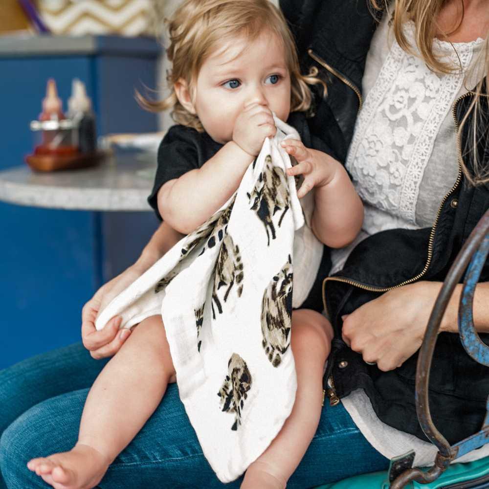 Milkbarn Mini Lovey Security Blanket - Racoon