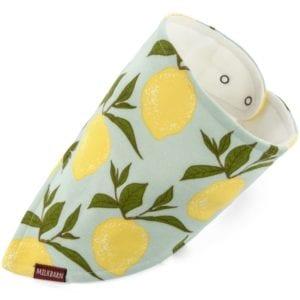 Milkbarn Kids Organic Baby Kerchief Bib or Bandana Bib in the Lemon Print