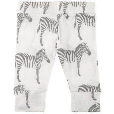 Milkbarn Kids Organic Baby Legging in the Grey Zebra Print