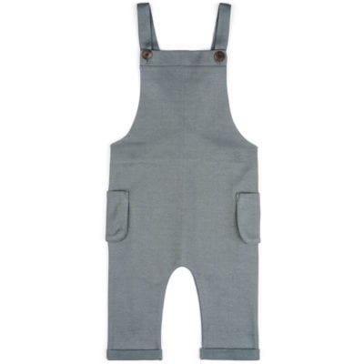 Baby or Child's Overalls in the Organic Cotton and Recycled Polyester Blend Denim Fabric by Milkbarn Kids
