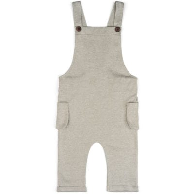 Baby or Child's Overalls in the Organic Cotton and Bamboo Blend Grey Pinstripe Fabric by Milkbarn Kids