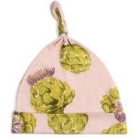 43108 - Milkbarn Knotted Hat in Organic Artichoke print
