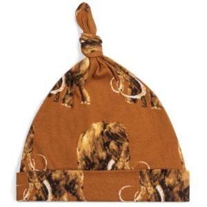 Milkbarn Kids Knotted Hat or Beanie in Organic Woolly Mammoth Print
