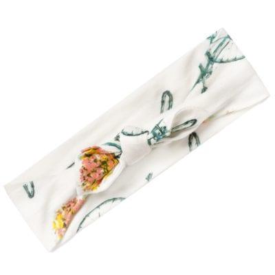 Milkbarn Headband in Bamboo Floral Bicycle print