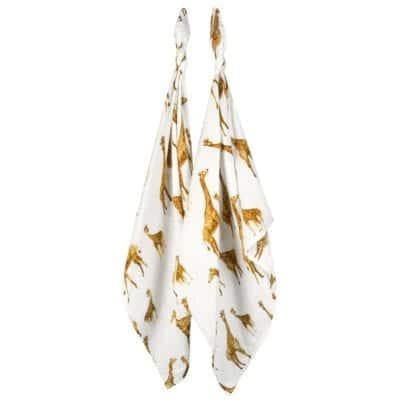 Milkbarn Burp Cloth in Bamboo Orange Giraffe print