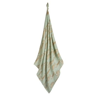 Milbarn Kids Bamboo Baby and Newborn Swaddle Blanket in the Blue Ships Print