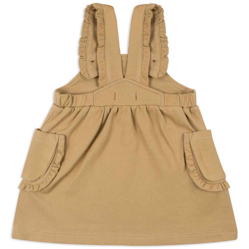 13004 - Milkbarn Kids Rust Denim Dress Overall Back