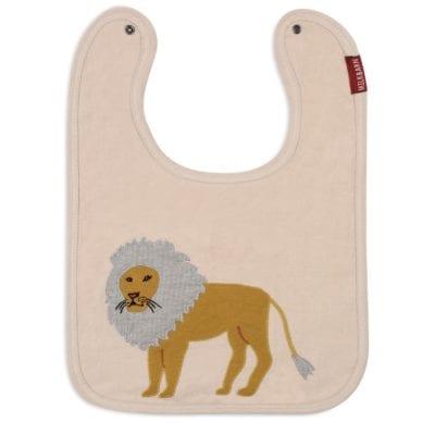 Milkbarn Kids Organic Applique Linen Bib with the Lion Applique