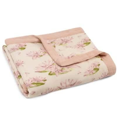 Milkbarn Kids Folded Organic Cotton and Bamboo Big Lovey in the Water Lily Print