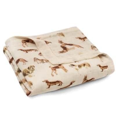 Milkbarn Kids Folded Big Lovey in the Natural Dog Print