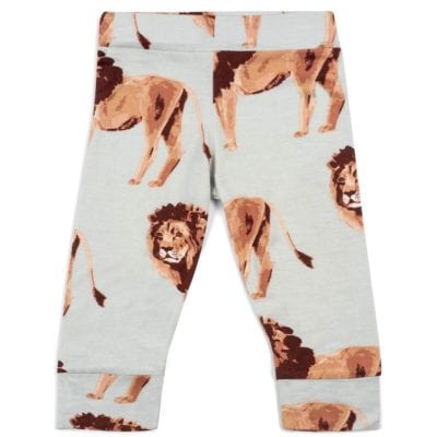 Bamboo Baby Legging or Lounge Pant in the Lion Wildlife Print by Milkbarn Kids