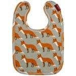 Milkbarn Kids Traditional Bib in the Orange Fox Print