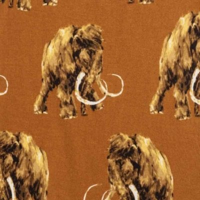 Woolly Mammoth Apparel Print by Milkbarn Kids