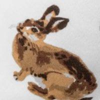 41100 - Bunny Organic Cotton Kerchief Bib Print by Milkbarn Kids
