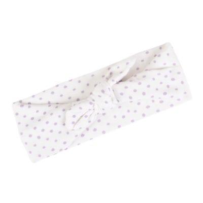 Organic Cotton Headband in the Lavender Dot Print by Milkbarn Kids