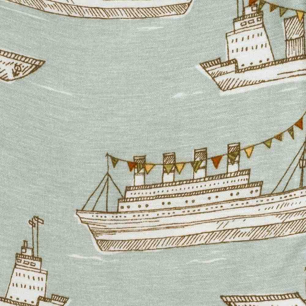 Blue Ships Apparel Print by Milkbarn Kids