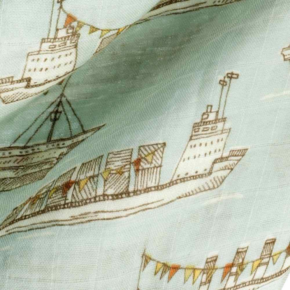 Blue Ships Print by Milkbarn Kids