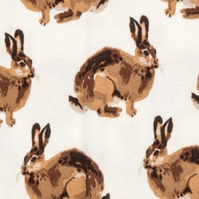 Bunny Apparel Print by Milkbarn Kids