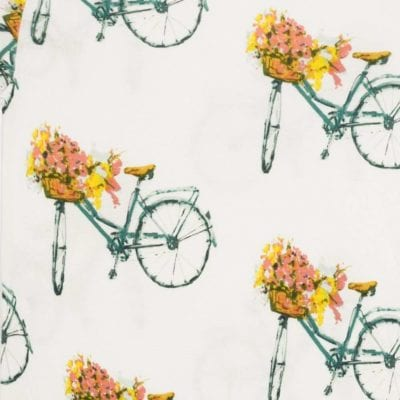 Floral Bicycle Apparel Print by Milkbarn Kids