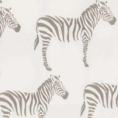 Grey Zebra Apparel Print by Milkbarn Kids