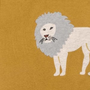 Lion Organic Coton Applique One Piece Detail by Milkbarn Kids