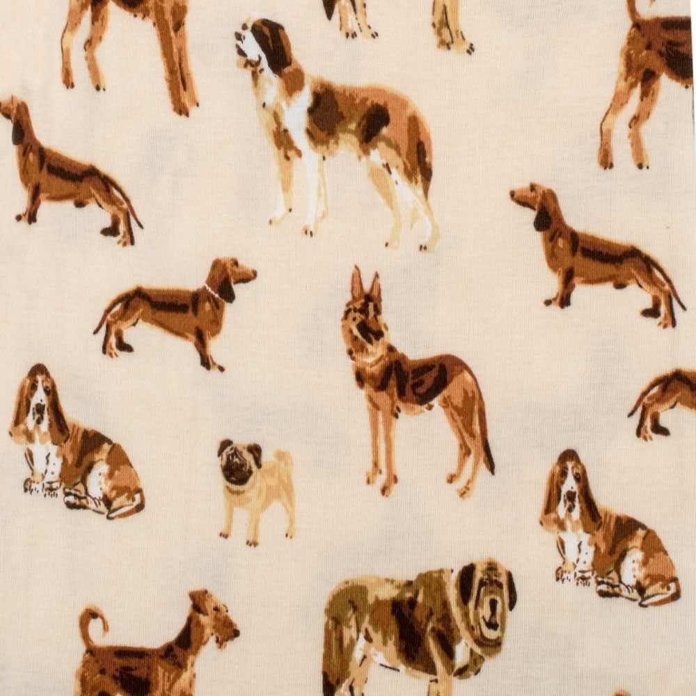 Natural Dog Apparel Print by Milkbarn Kids