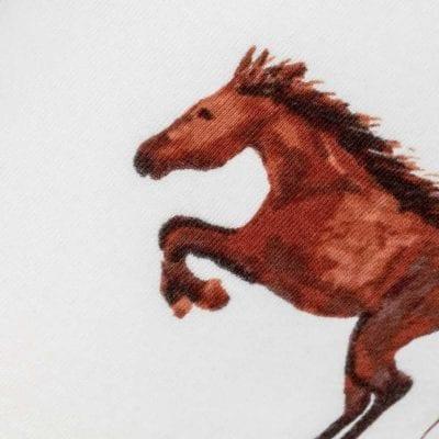Natural Horse Kerchief Bib Print by Milkbarn Kids