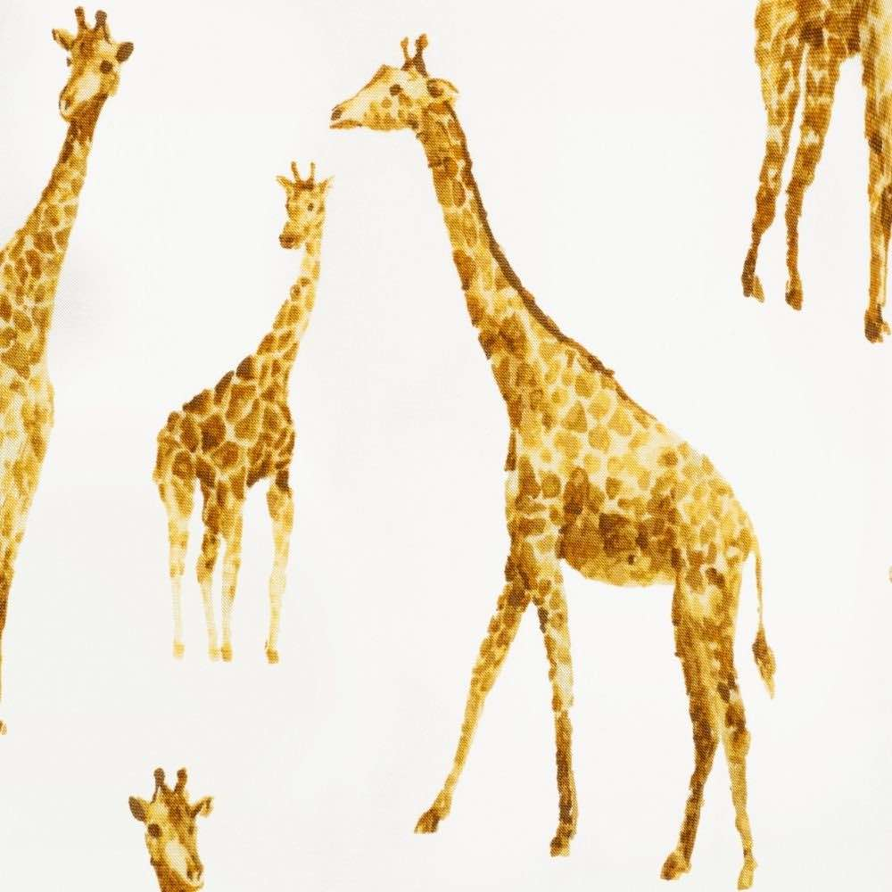 Orange Giraffe Apparel Print by Milkbarn Kids