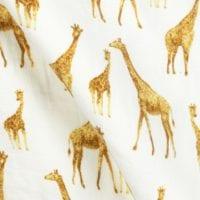 Orange Giraffe Print by Milkbarn Kids