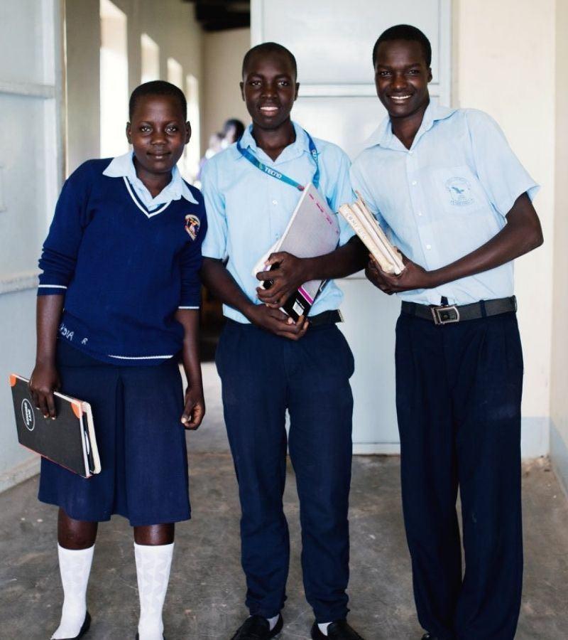 School Age Children Being Helped by Exile International and Milkbarn Kids