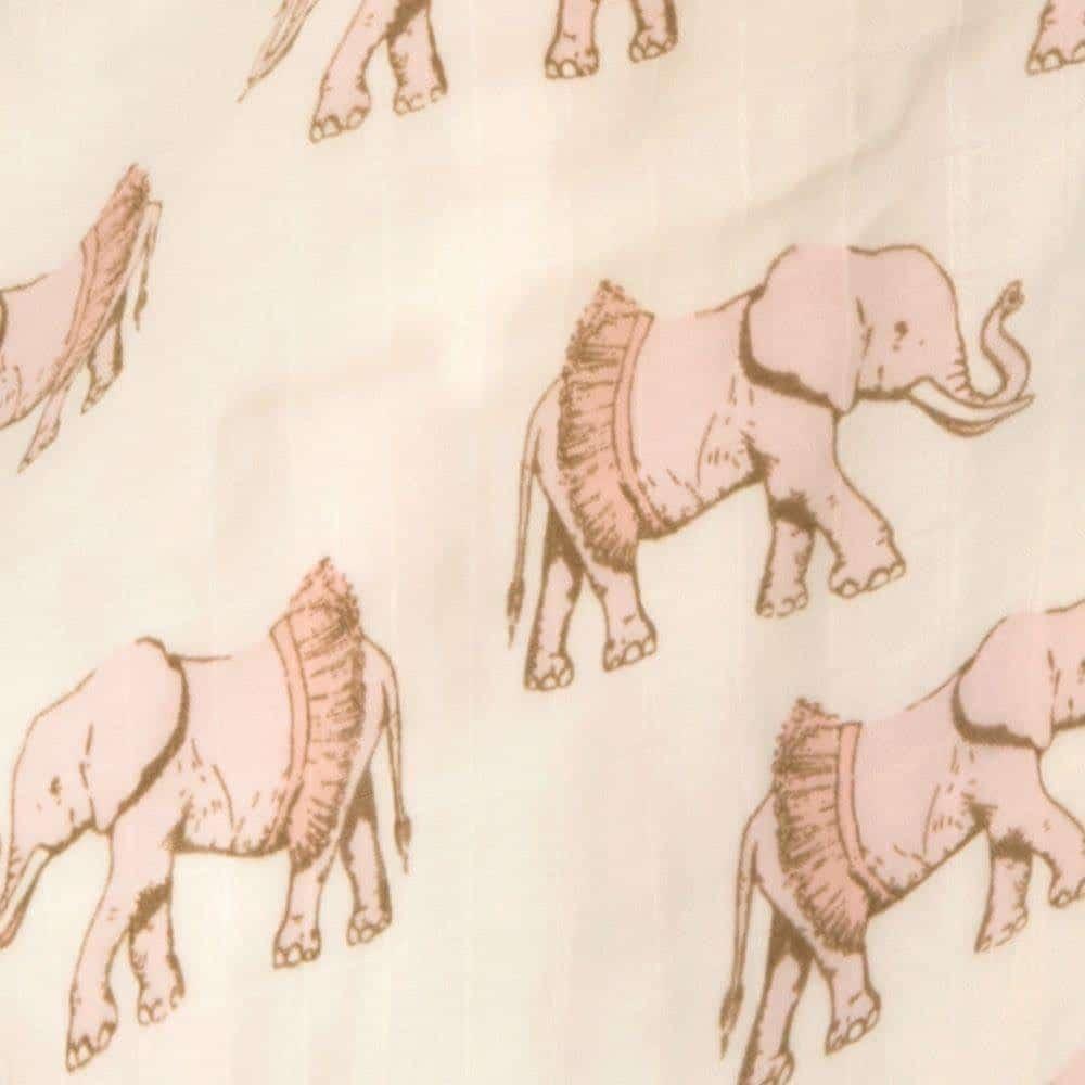 Tutu Elephant Big Lovey Print by Milkbarn Kids