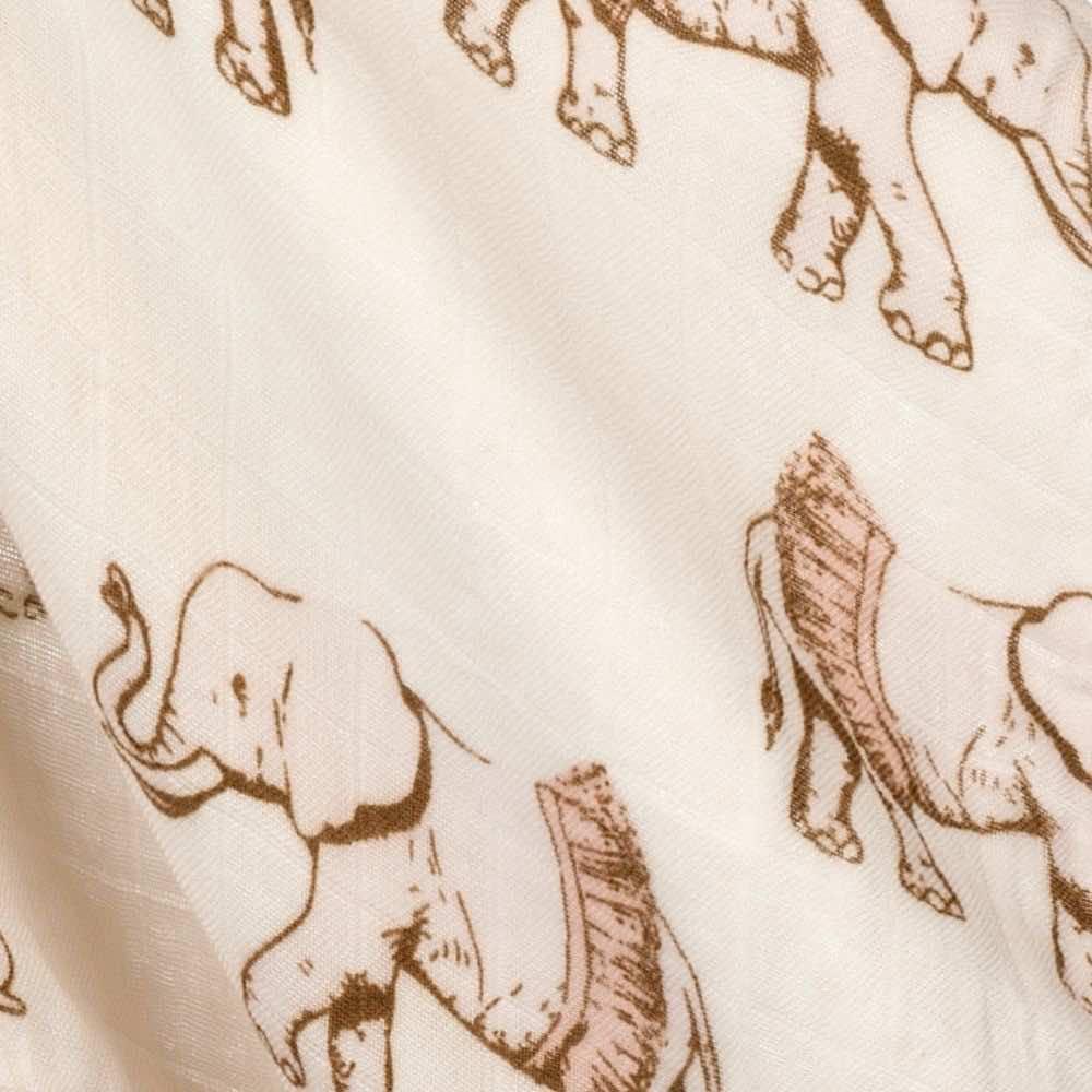 Tutu Elephant Mini Lovey Print by Milkbarn Kids