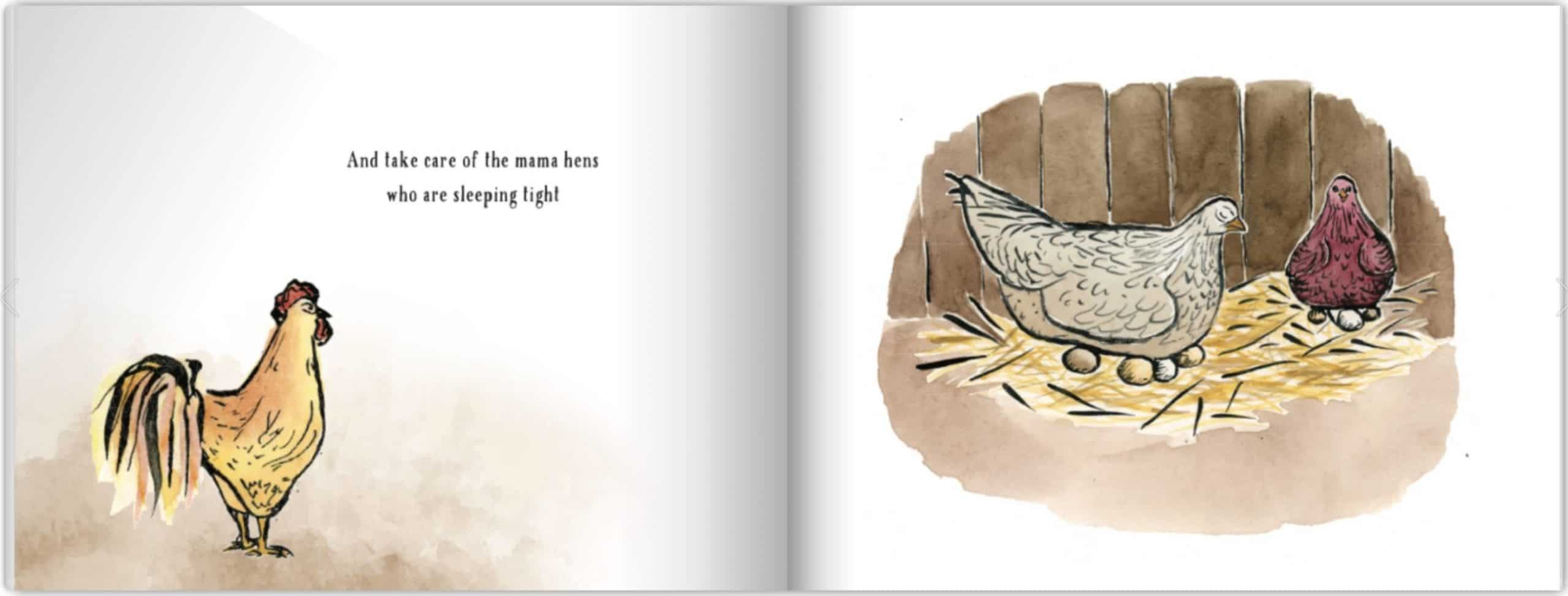 The Little Rooster Interior Pages