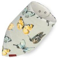 41117 - Butterfly Bamboo Kerchief Bib by Milkbarn Kids