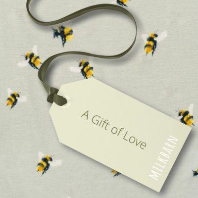 Gift of Love Bumblebee for Milkbarn Gift Cards