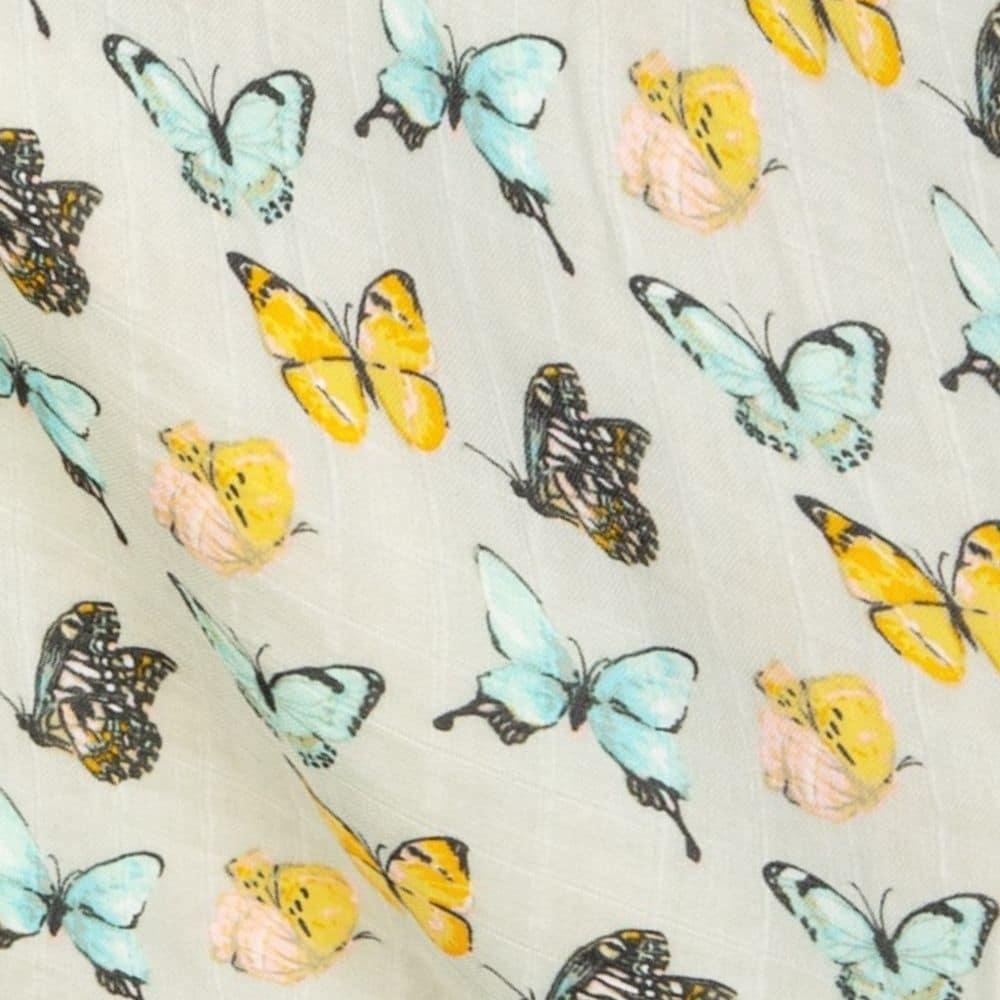 Butterfly Muslin Print Detail by Milkbarn Kids