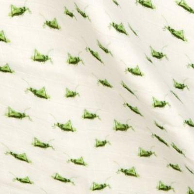 Grasshopper Blanket Print Detail by Milkbarn Kids