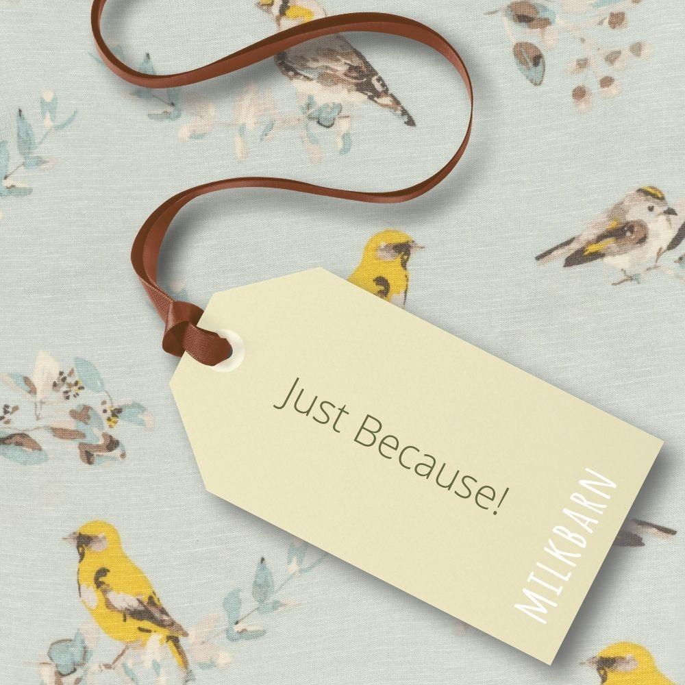 Just Because Blue Bird Print for Milkbarn Gift Cards