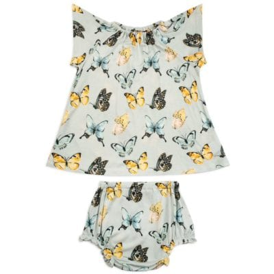 Butterfly Bamboo Dress and Bloomers by Milkbarn Kids