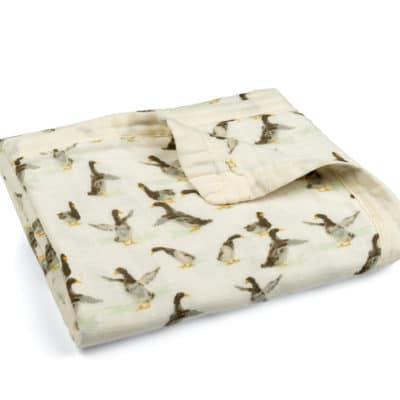 Duck Muslin Big Lovey Blanket by Milkbarn Kids