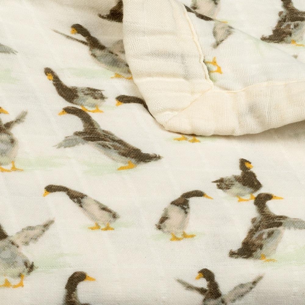 Duck Muslin Big Lovey Folded Detail by Milkbarn Kids