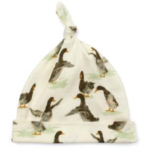 Duck Organic Cotton Knotted Hat by Milkbarn Kids