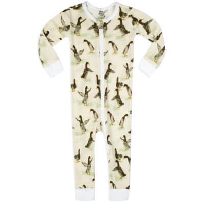 Duck Organic Cotton Zipper Pajama by Milkbarn Kids