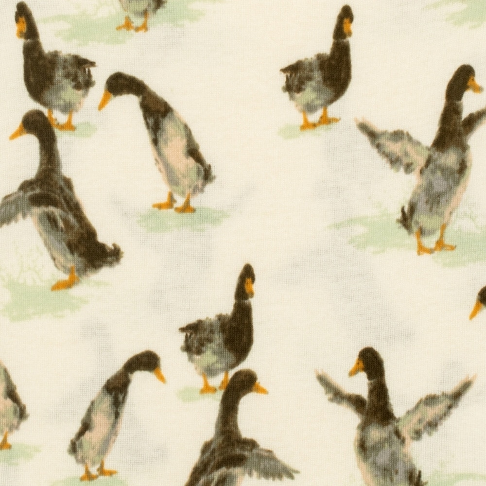 Duck Organic Cotton Print Detail by Milkbarn Kids