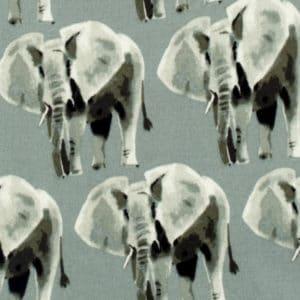 Grey Elephant Organic Cotton Print Detail by Milkbarn Kids