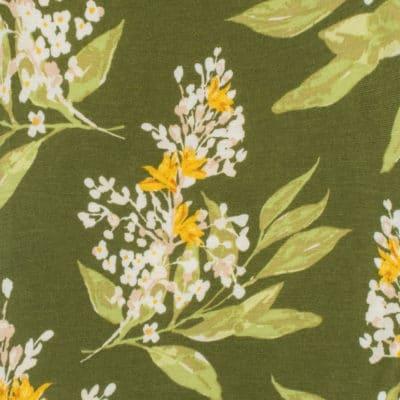 Green Floral Print by Milkbarn Kids