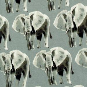 Grey Elephant Print by Milkbarn Kids