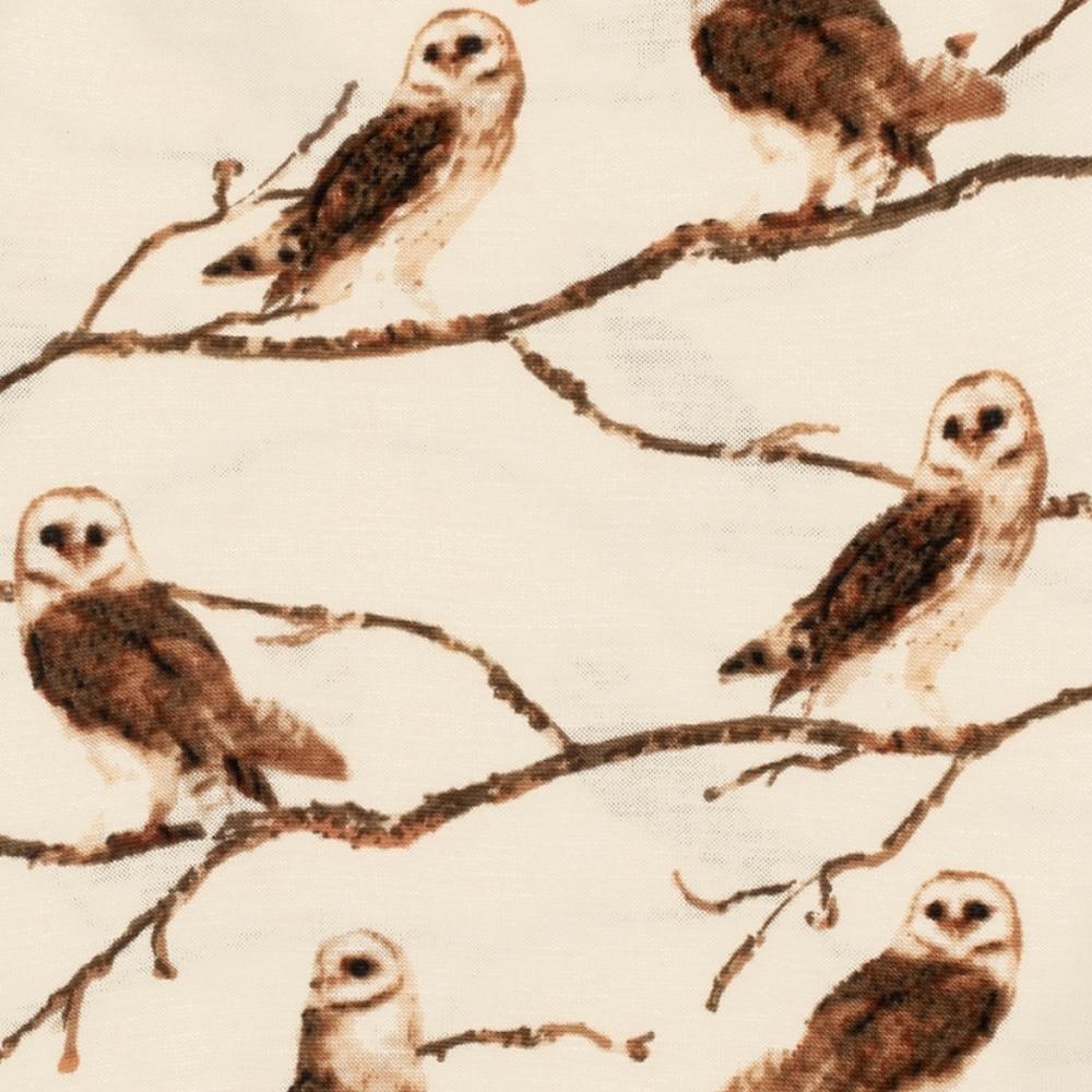 Owl Bamboo Print Detail by Milkbarn Kids
